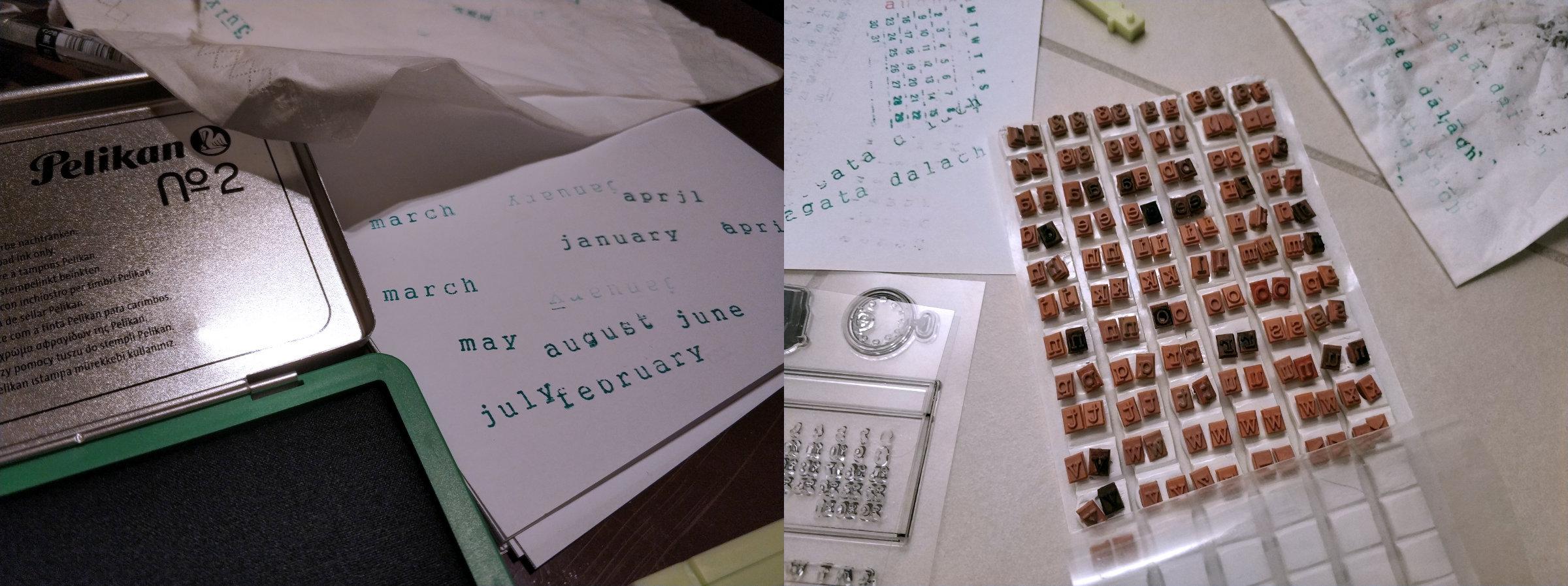 kalendarz wykonany wlasnorecznie
